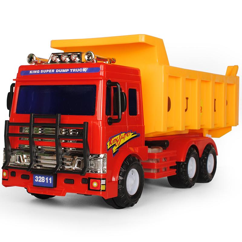 大号工程车翻斗车大卡车货车挖掘机男孩宝宝消防小汽车儿童玩具车
