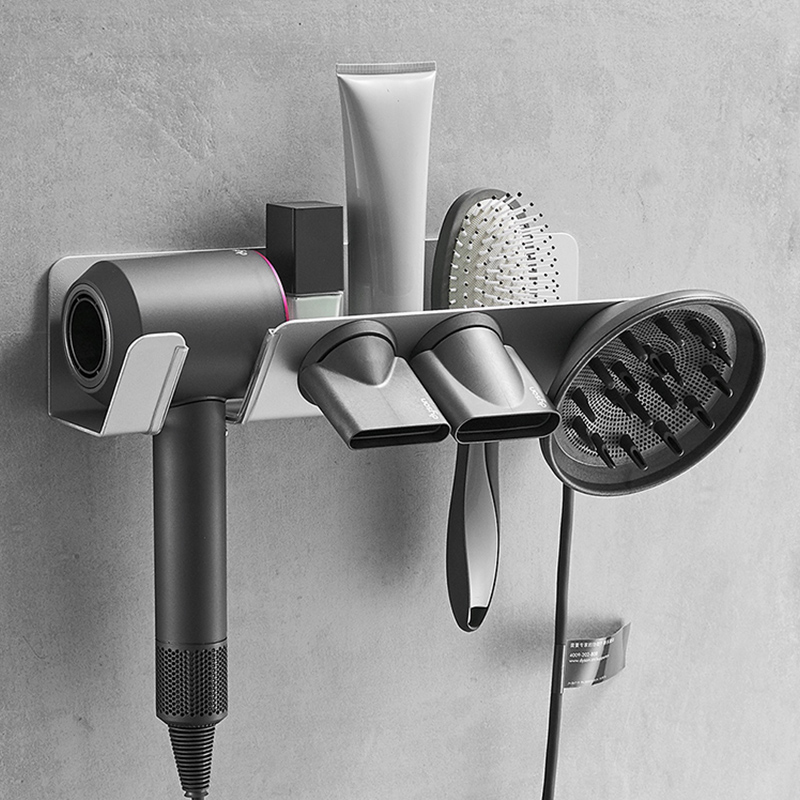 戴森吹風機支架免打孔衛生間dyson風筒架電吹風收納架浴室置物架