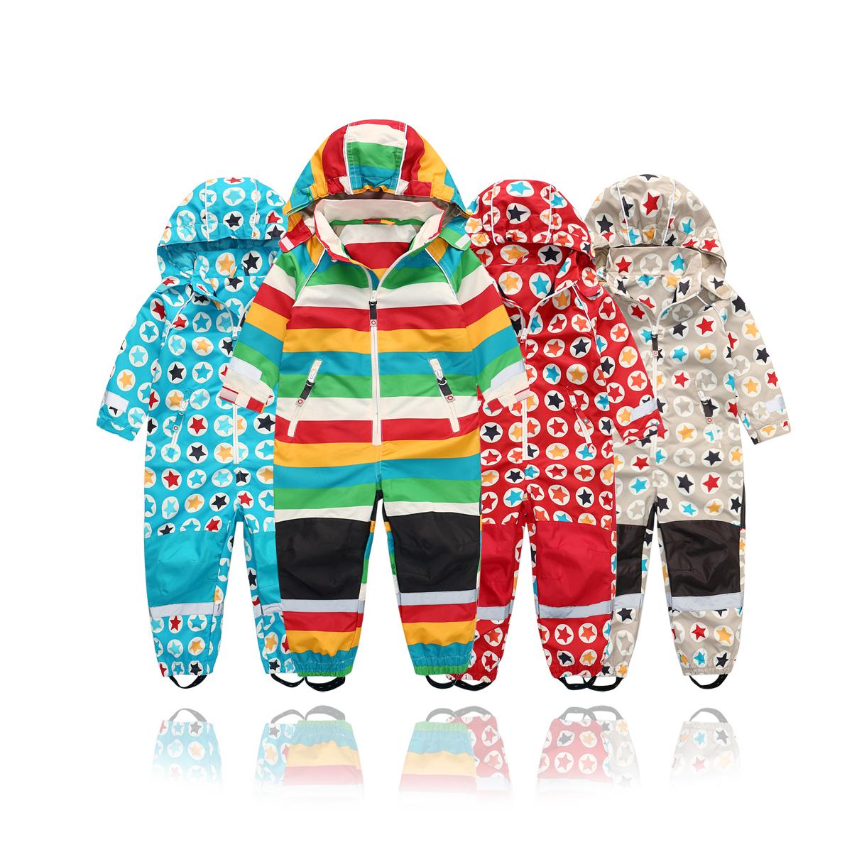 春秋冬戶外滑雪兒童嬰幼兒薄款防水透氣連體服男童女童連體騎車服