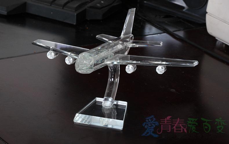 水晶爱情飞机创意七夕圣诞节礼物送老婆女生男女朋友实用特别结婚