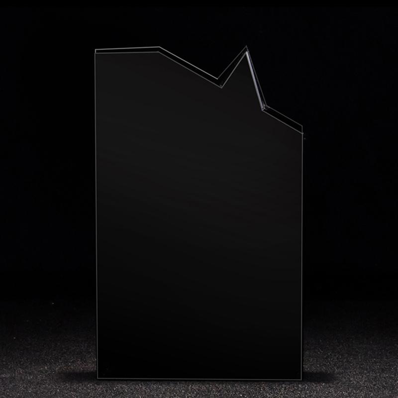 黑色水晶水晶奖杯定制水晶奖牌金属奖杯五角星奖杯琉璃奖杯定做