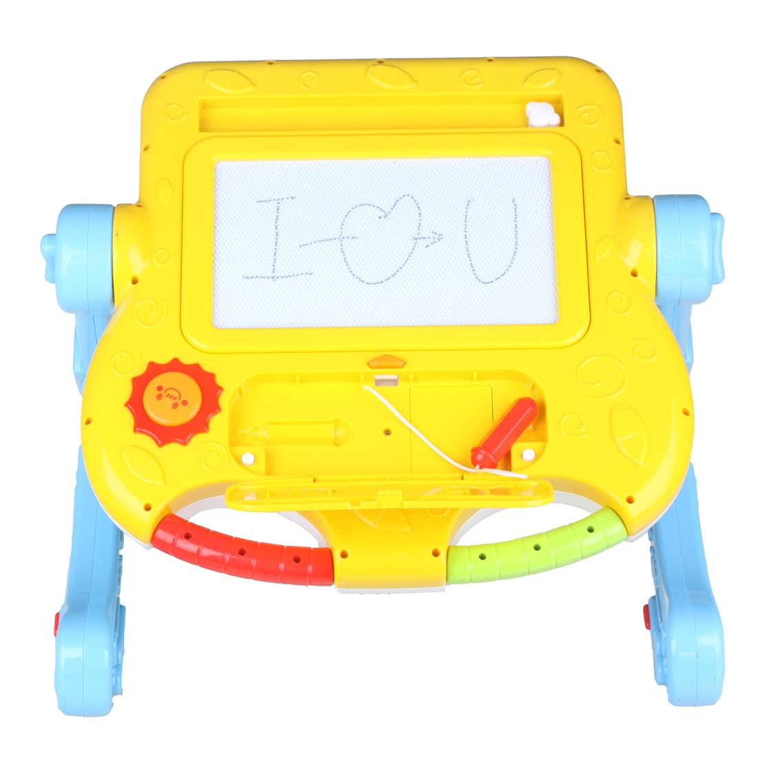 玛力玩具成长三用学习车婴幼儿多功能玩具台儿童手推学步车写字板