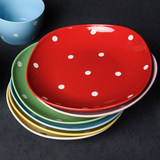 Cute wave point dishes set dishes dishes dishes home tableware bowl combination ceramic6 6 bowls 6 plates 6 chopsticks