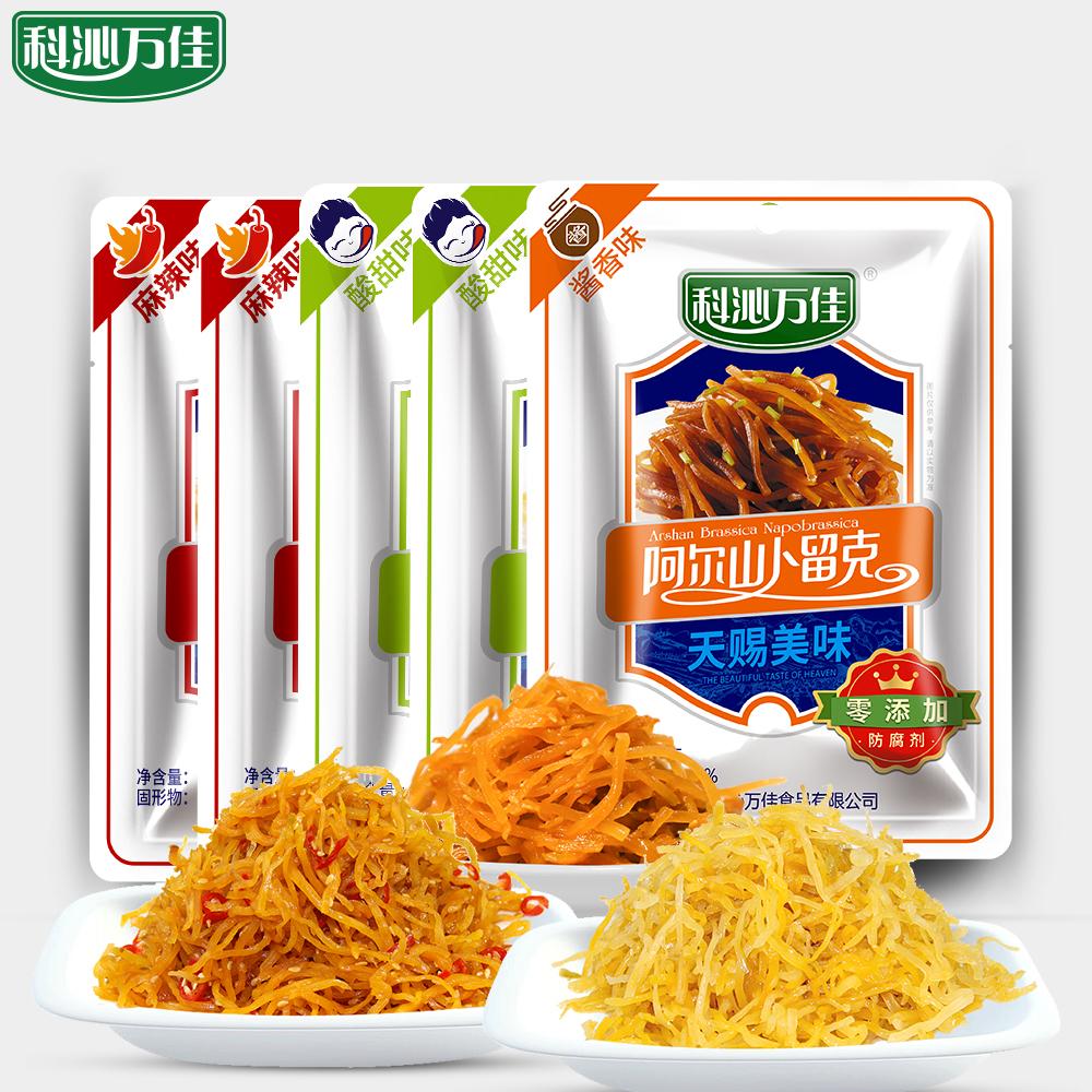 科沁万佳卜留克108g*5袋酸甜麻辣酱香小菜酱腌下饭菜咸菜内蒙特产
