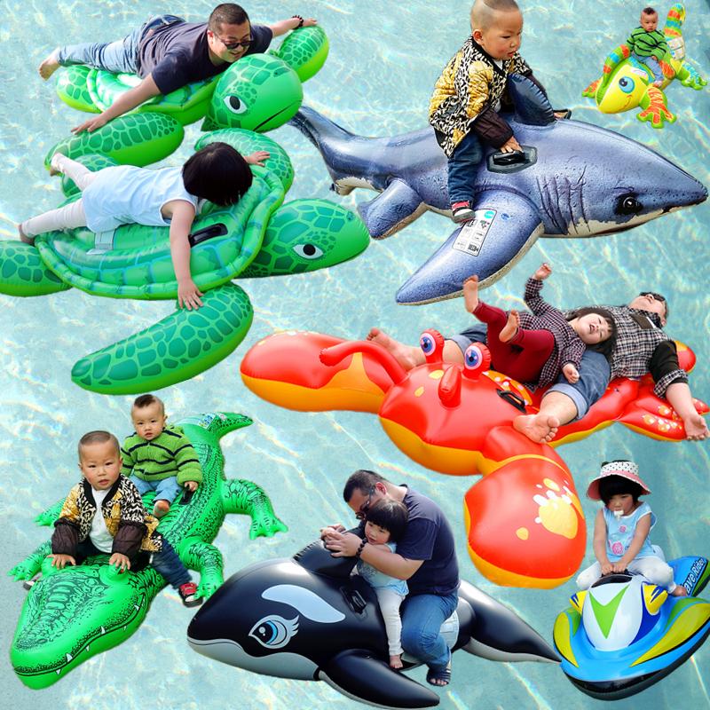 儿童水上充气游泳圈火烈鸟卡通动物戏水坐骑成人玩水拍照浮排沙发