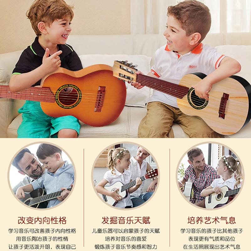 尤克里里初学者儿童仿真小吉他玩具可弹奏音乐琴男孩女孩乐器宝宝