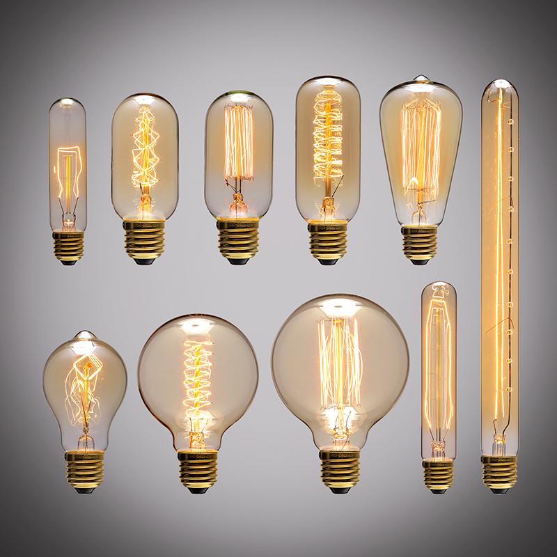 爱迪生灯泡个性复古吊灯e27蚕丝灯泡钨丝灯白炽灯创意电灯泡光源