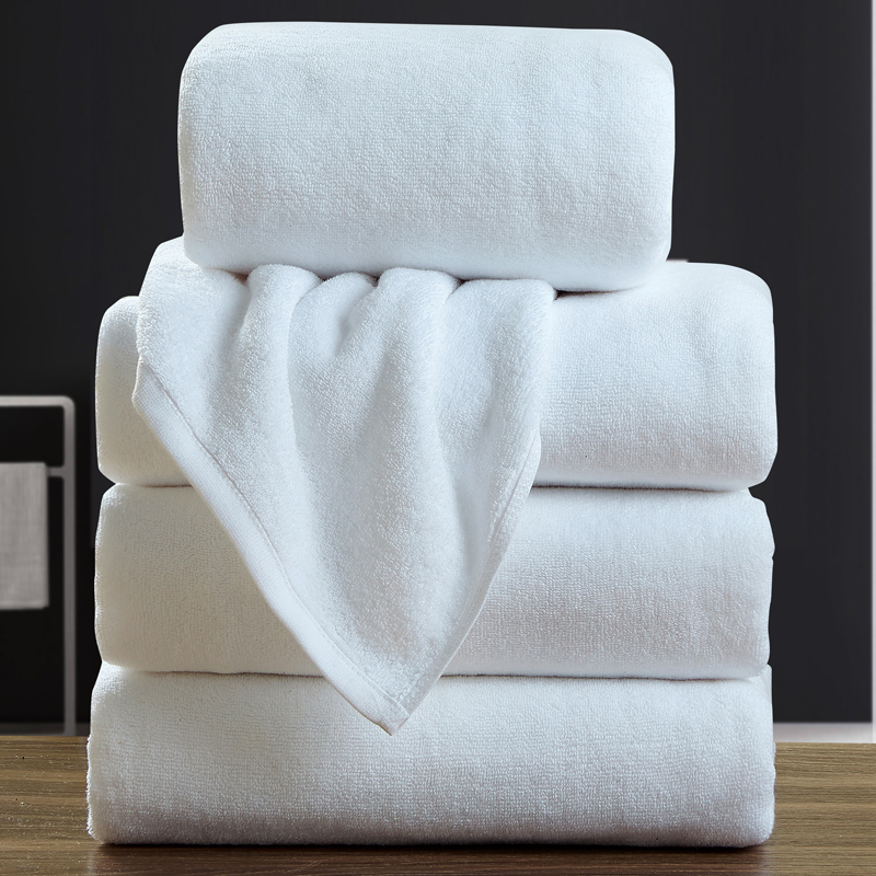 天歌纯棉酒店宾馆美容院白色浴巾加厚吸水柔软游泳全棉成人大毛巾