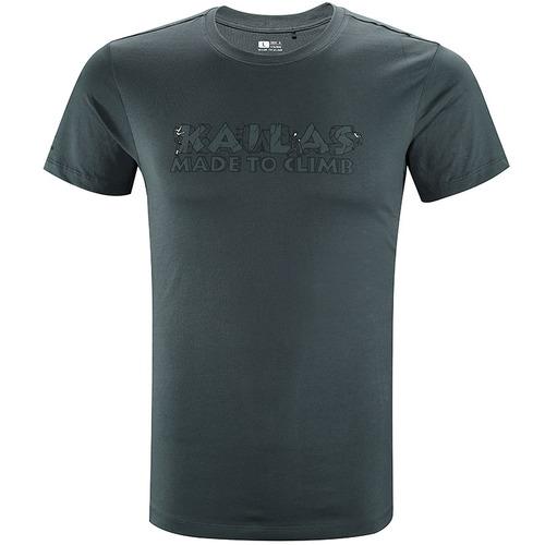 春夏 凯乐石户外运动休闲T恤男女棉感透气印花圆领短袖T恤上衣