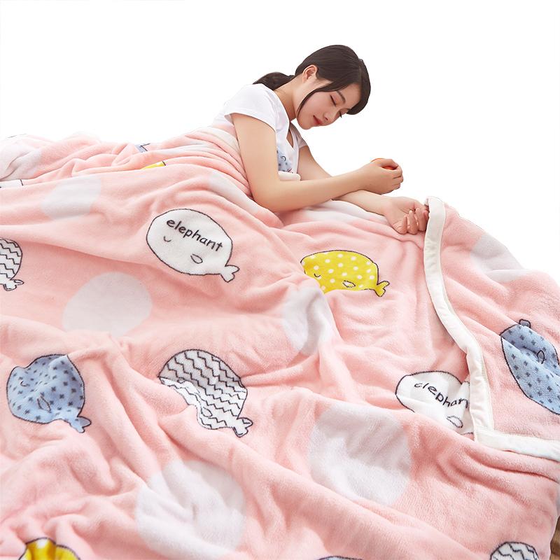 冬季珊瑚绒毛毯加厚保暖法兰绒床单女学生宿舍单人小被子午睡毯子