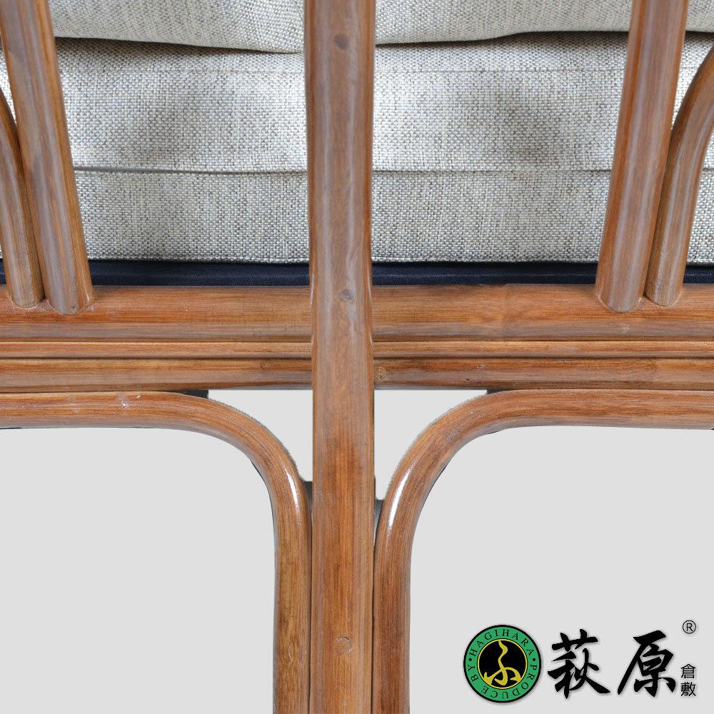萩原进口印尼藤家具双人沙发客厅田园靠椅子休闲藤编藤艺沙发