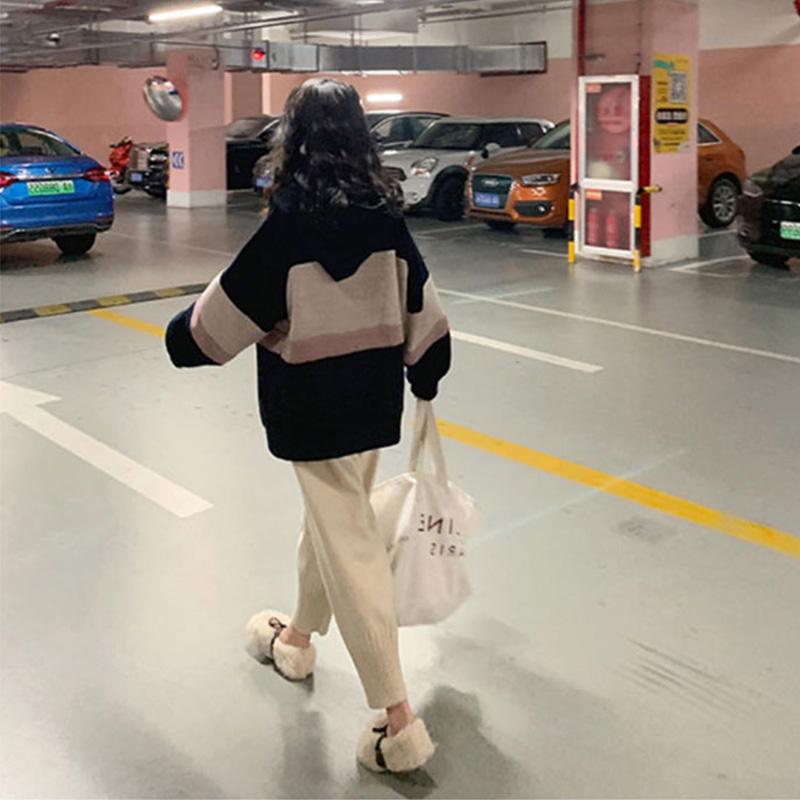 大码女装2021早秋装新款胖妹妹毛衣外套套装洋气减龄显瘦两件套潮