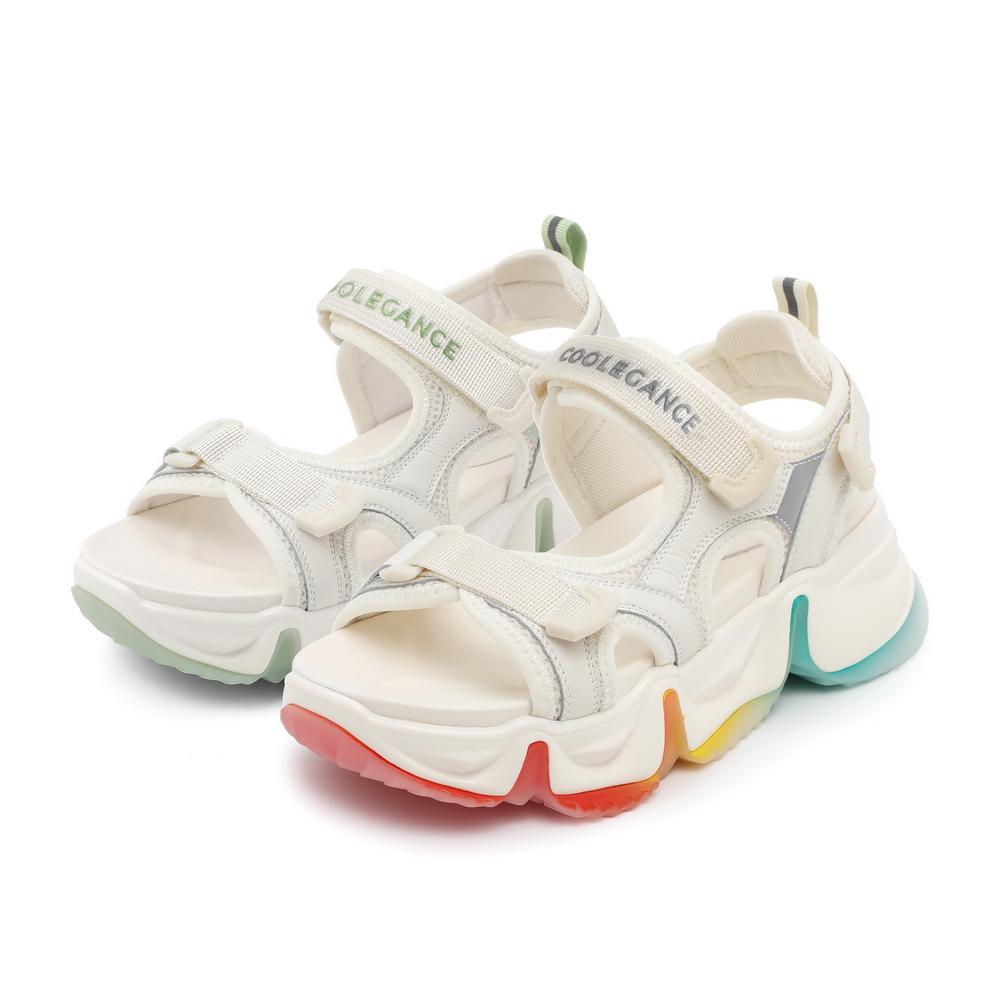 预 25681BL0A 夏新款厚底沙滩凉鞋 2020 百丽彩虹底运动凉鞋女