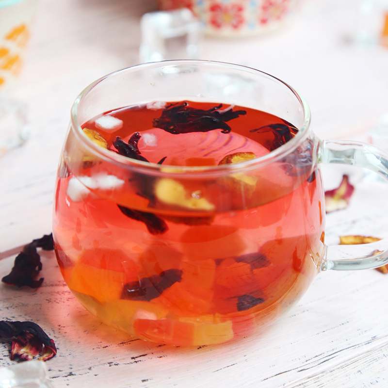 罐装包邮 洛神花等花果组合 水果茶果粒茶 花果茶 瓶超值组合 5