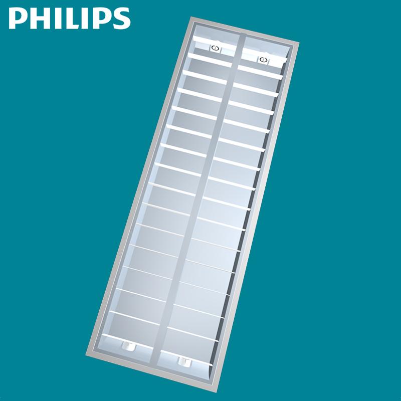 飞利浦T5格栅灯盘 嵌入式格栅灯600 600办公室日光灯盘支架灯