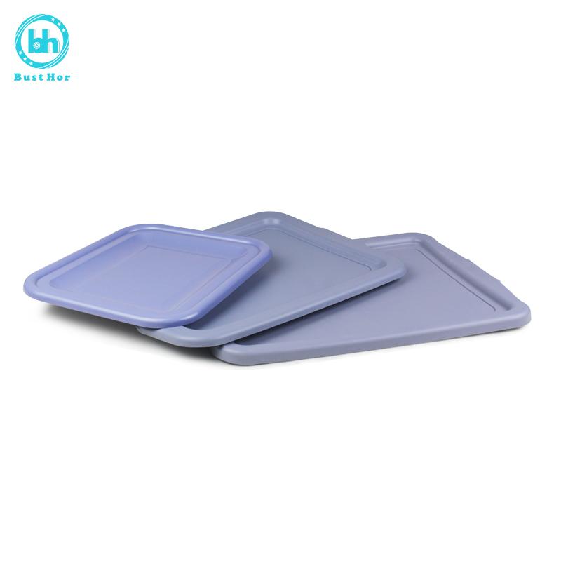 柏德汇长方形加厚碗碟盘餐厅盘子配件收餐盆盖大小号PP环保材质