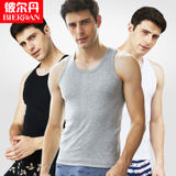 3 men's vest summer thin section breathable cotton bottoming shirt white cotton stretch hurdle vest wear