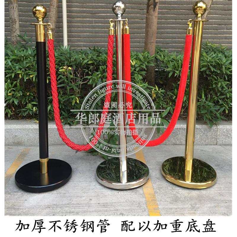 不锈钢栏杆座礼宾杆挂绳1米线护栏 警戒线隔离带绒绳麻绳栏杆黑色