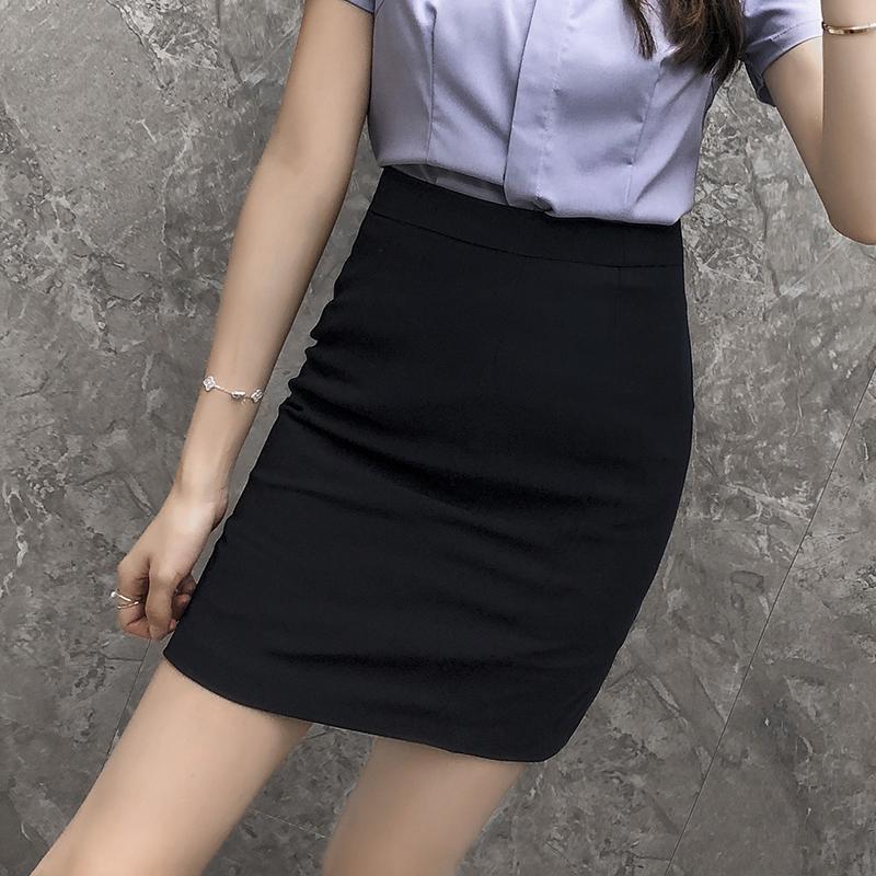 职业装半身裙工装奥曦夏季新款韩版显瘦包臀一步裙工作服女短裙主图