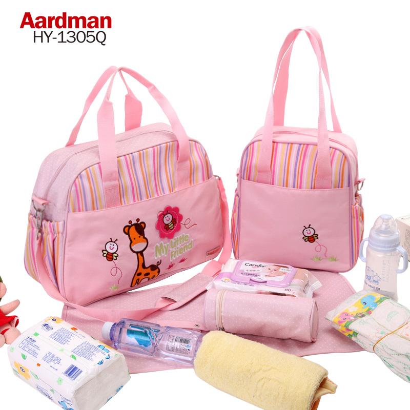 Aardman媽咪包女多功能大容量手提媽媽包母嬰包斜挎嬰兒外出包
