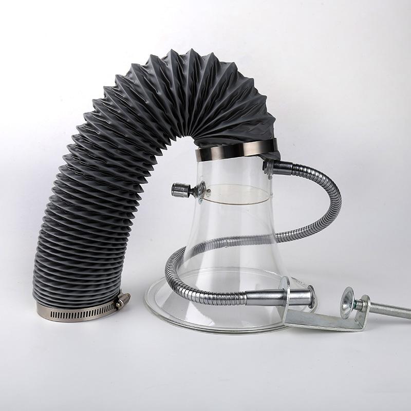 高盈裕 电子焊锡厂排烟罩 透明吸烟罩艾炙排烟换气扇喇叭口