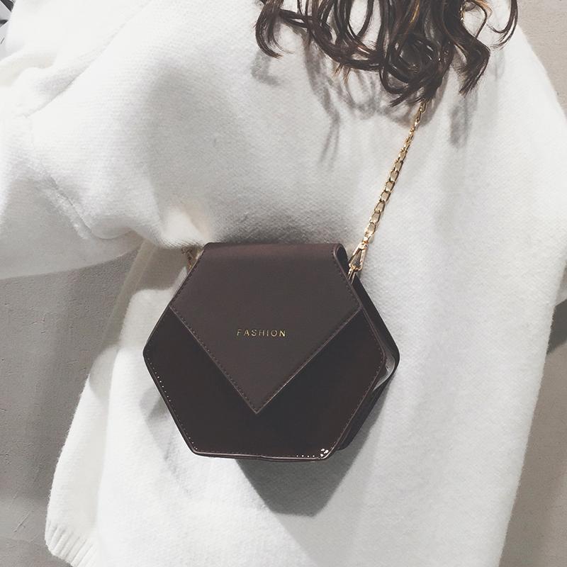 高级感小包包女新款洋气女包2019ins质感百搭斜挎链条时尚小黑包