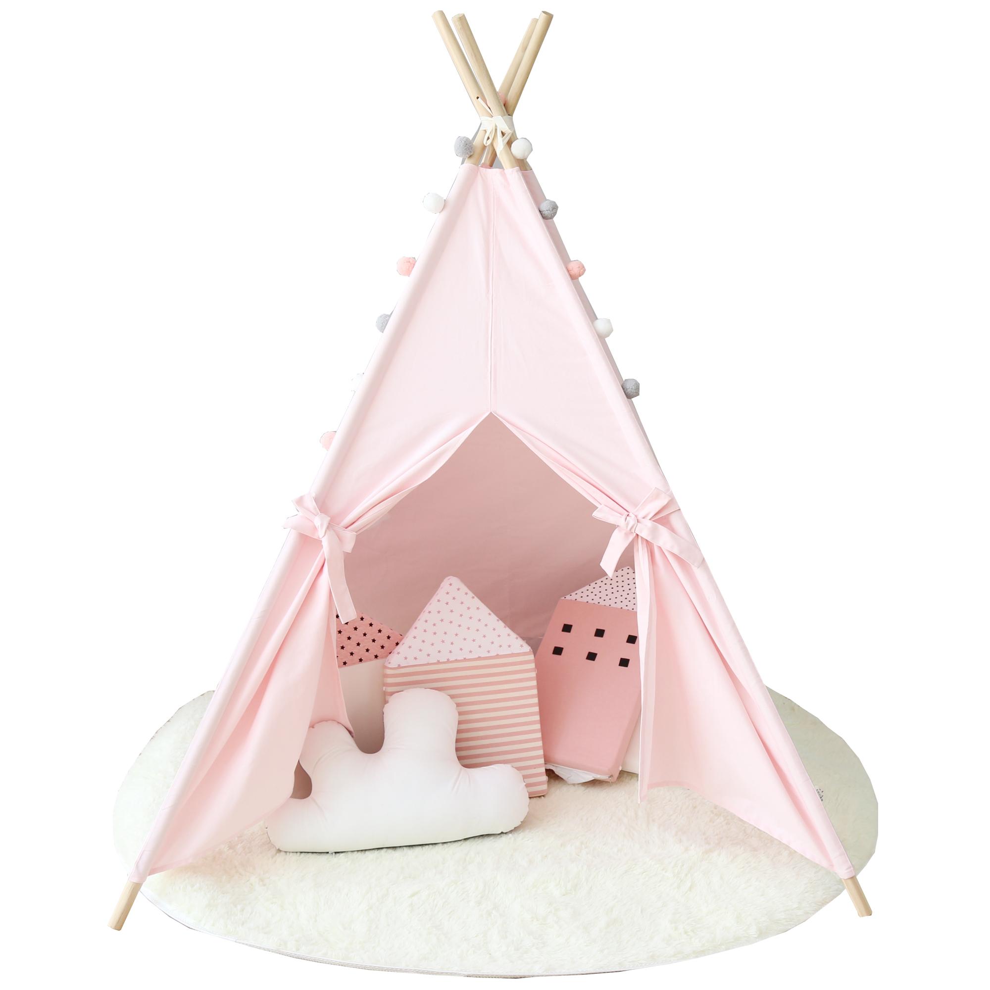 儿童帐篷游戏屋室内小帐篷公主城堡宝宝玩具屋纯棉帆布新年礼物