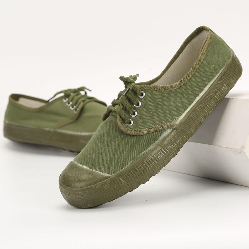 高腰解放鞋军训鞋户外农田迷彩军鞋高帮解放鞋劳保鞋帆布鞋黄球鞋