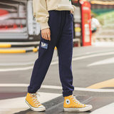 Yan Man flagship store fashion outer wear trousers plus thick velvet pants pants feet Wei winter sports pants female models