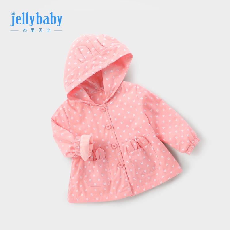 女宝外套秋冬3岁童装女童儿童小童婴儿公主洋气春秋2宝宝秋装加绒