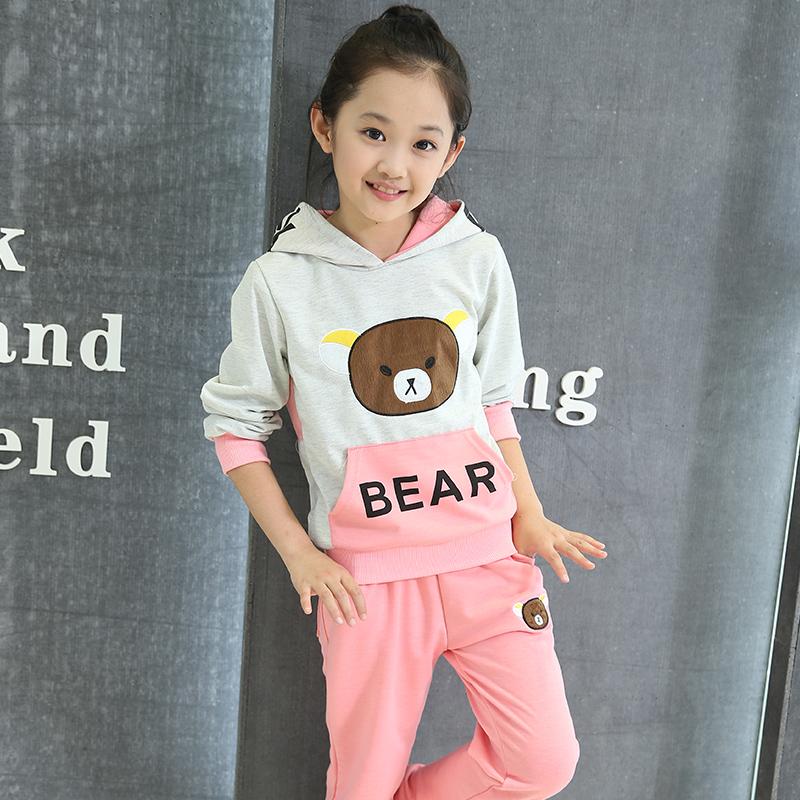 女童秋装卫衣两件套装2019新款洋气时髦儿童中大运动休闲韩版时尚