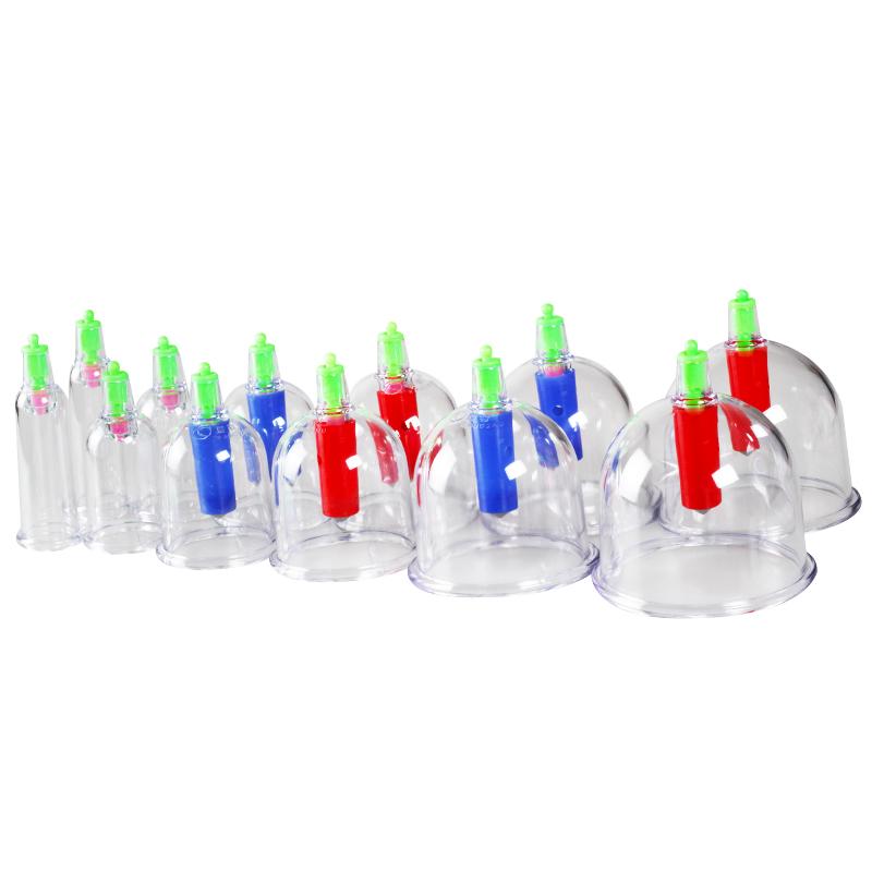 康祝抽气式真空拔罐器 12罐 家用吸湿罐 拔火罐 康祝品牌拔罐器