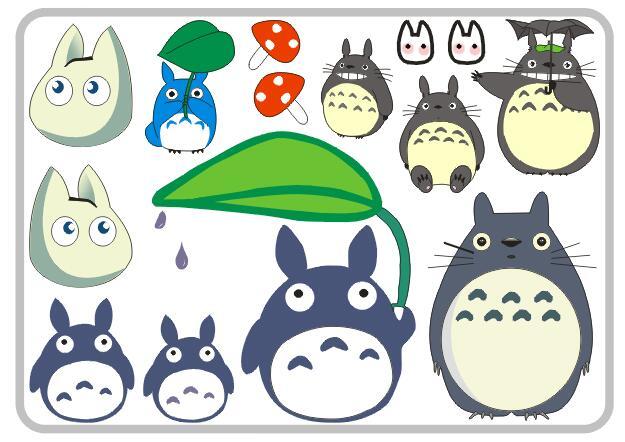 龙猫个姓汽车贴纸卡通搞笑装饰宫崎骏车贴创意遮挡划痕贴油箱贴