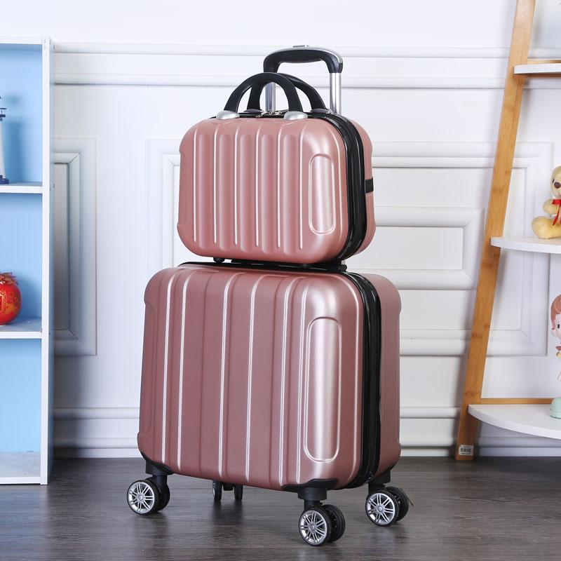 寸万向轮旅行箱子 18 寸小行李箱女迷你可爱拉杆箱 16 寸登机密码箱 18