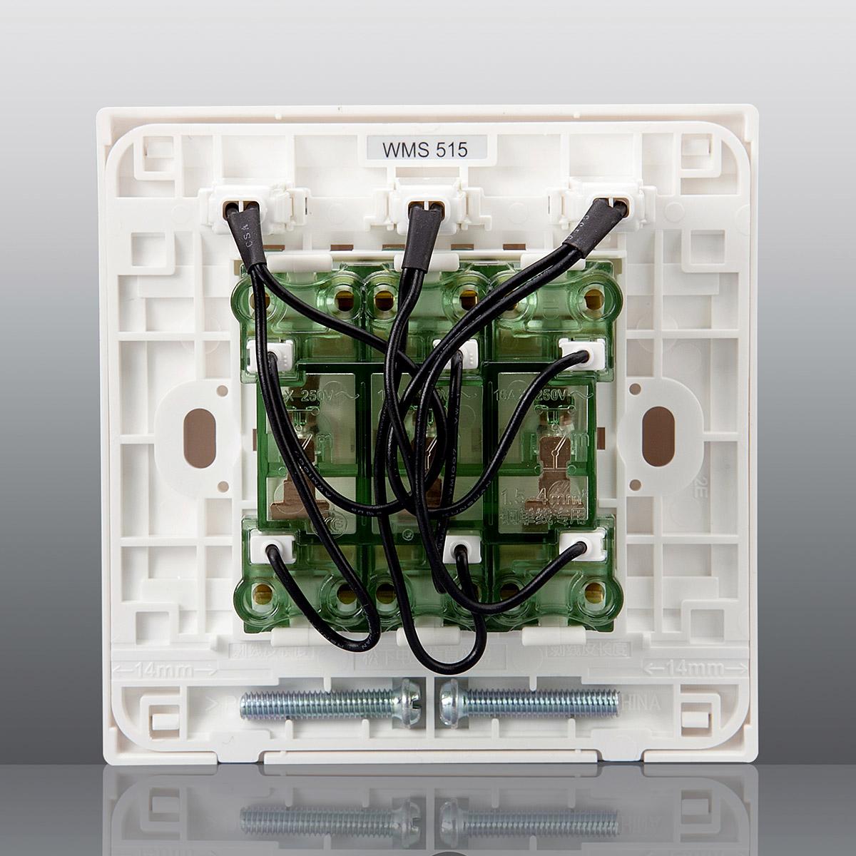 松下开关插座墙壁开关面板佳典纯86型三开单控带指示灯开关