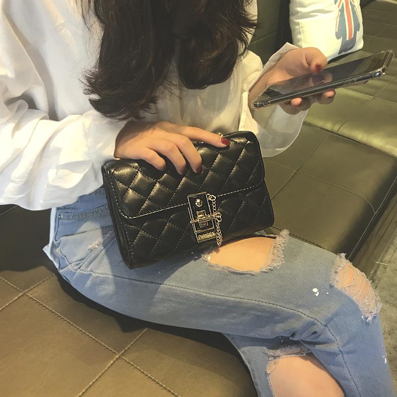 包包女2019新款菱格链条包chic百搭斜挎包时尚高级感洋气质感女包