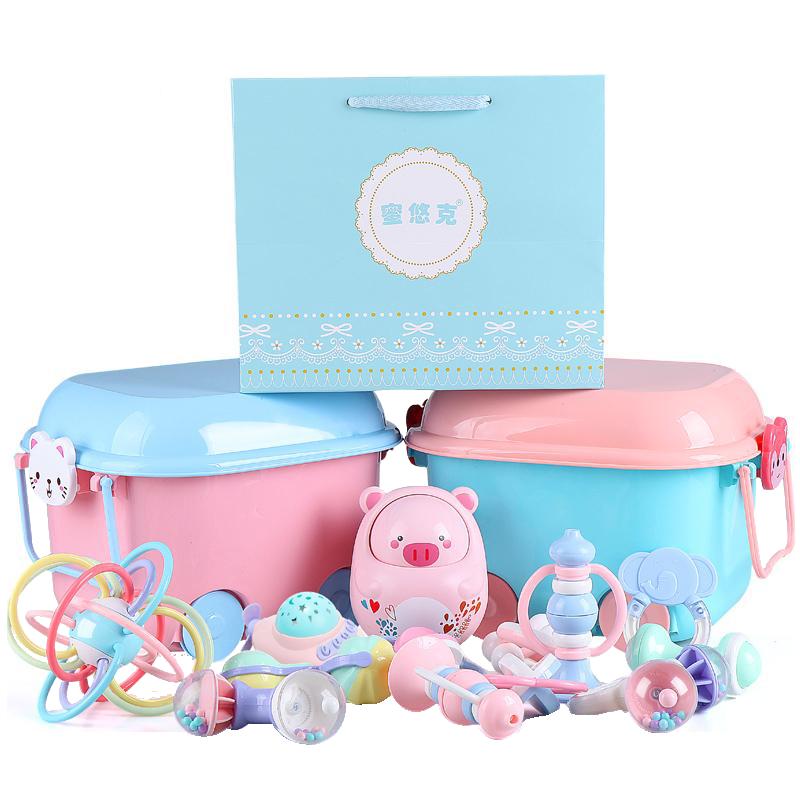 婴儿玩具手摇铃音乐早教益智0-3-6-12个月宝宝0-1岁新生儿男女孩8