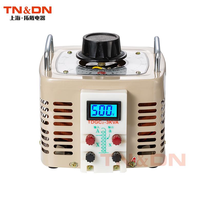 全铜TDGC2-3000W单相接触式调压器3KW输出可调0-250V300V400V500V