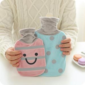 包邮卡通热水袋充水大号注水痛经暖宫毛绒橡胶暖水袋迷你暖手宝