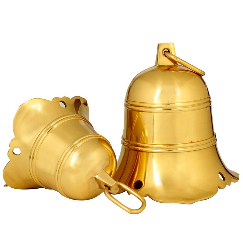广缘德中式云板铜钟风水铜铃铛复古摆件寺庙家居大门工艺礼品摆设