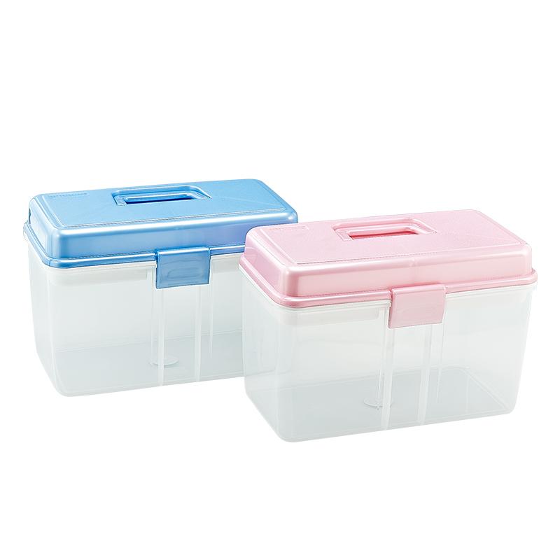茶花药箱家庭装大号家用大容量医疗箱药品收纳箱药物收纳盒医药箱