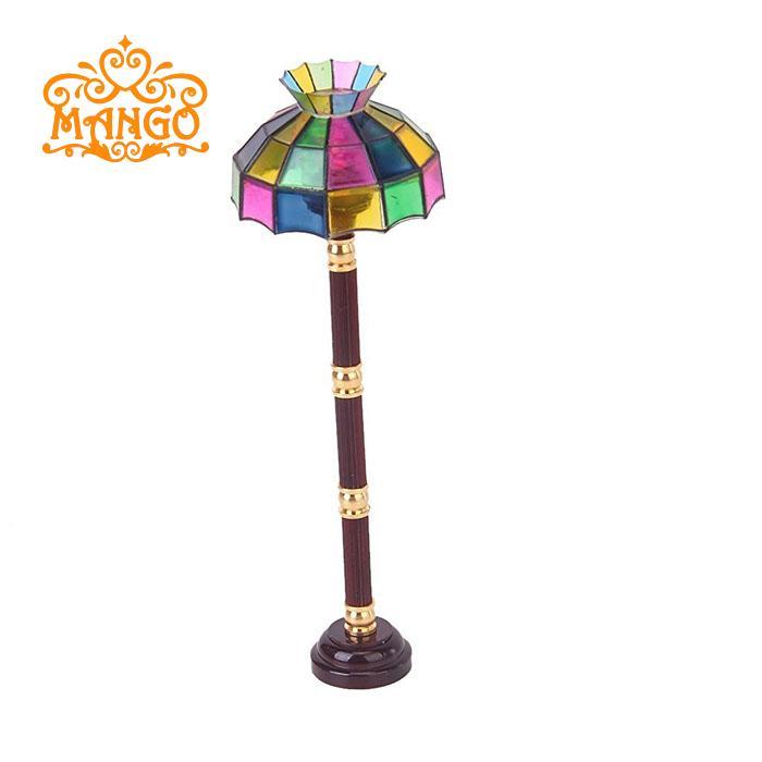 1:12娃娃屋dollhouse迷你小灯模型 LED吊灯落地灯台灯壁灯吸顶灯