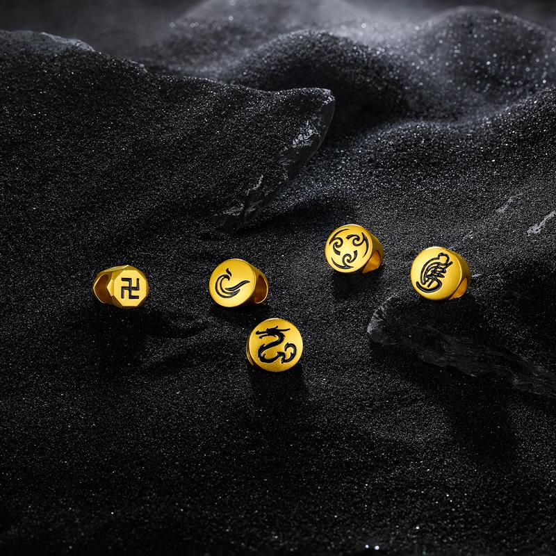 3D  ADKQ165024 定价 周六福 混沌系列黄金转运珠男款 硬金图案手串