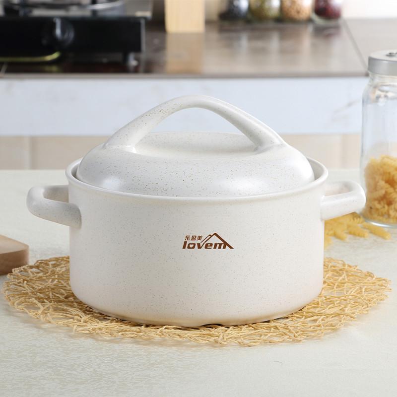 家用燃氣白色砂鍋燉肉燉鍋陶瓷鍋煲湯雙耳沙煲日式日本燉雞耐高溫