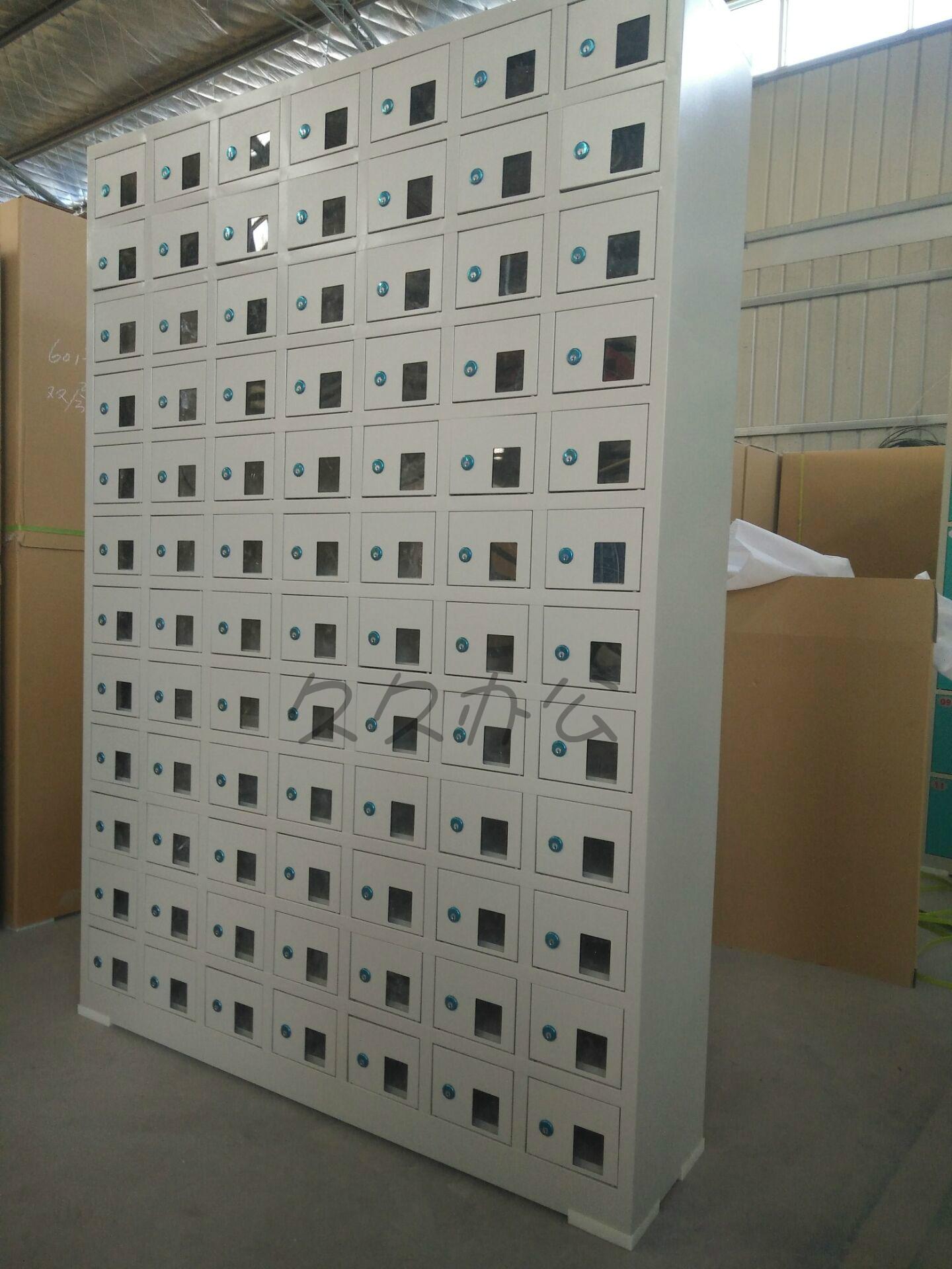 员工亚克力储物柜寄存柜物品 USB 手机存放柜手机充电柜 30 门 50 门 80