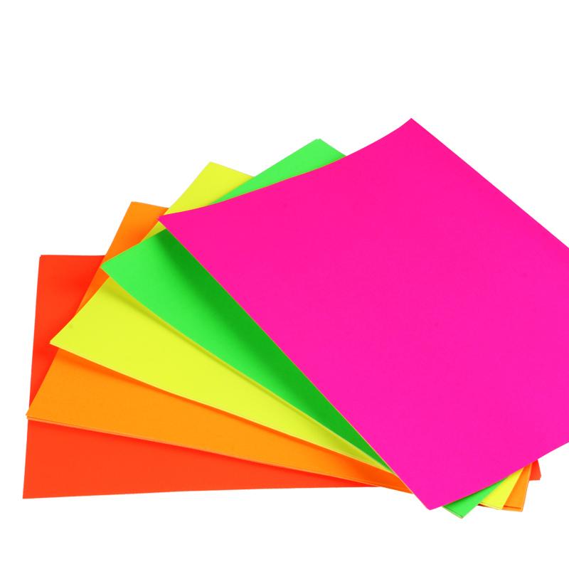 欣码a4彩色不干胶打印纸办公喷墨激光纸标签贴纸炫彩手工折纸剪纸