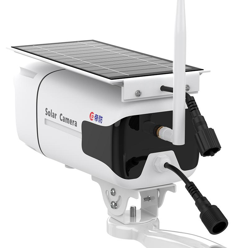 卡流量手機遠程野外插卡 4G 太陽能電池監控攝像頭戶外高清夜視室外