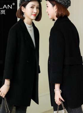 春秋特价小个子侧开叉双面羊绒大衣女高端纯手工显瘦羊毛呢子外套