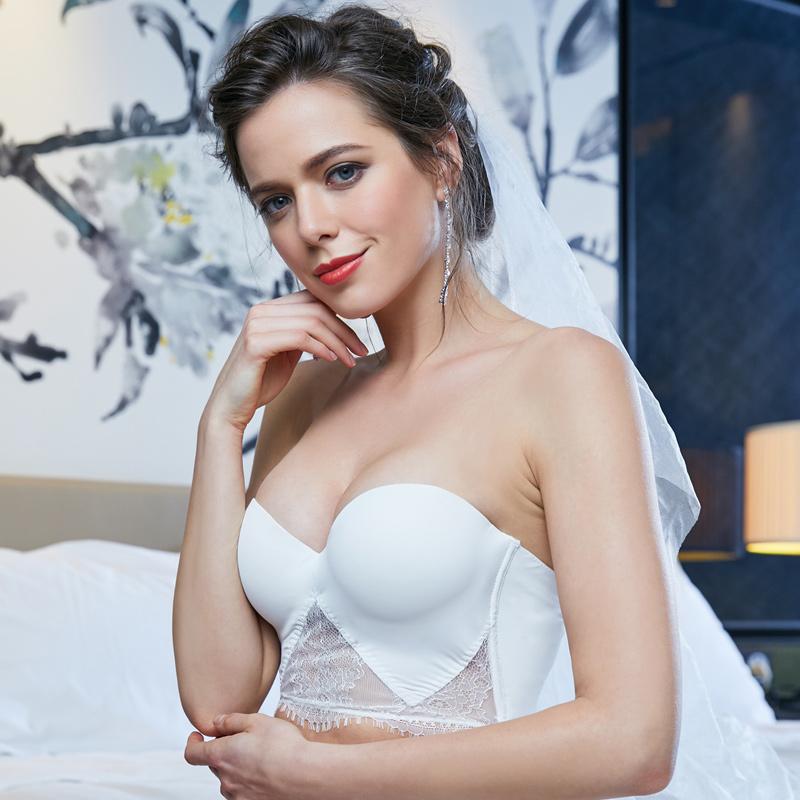 婚纱无肩带防滑隐形上托聚拢文胸 抹胸美背礼服性感胸罩胸贴内衣