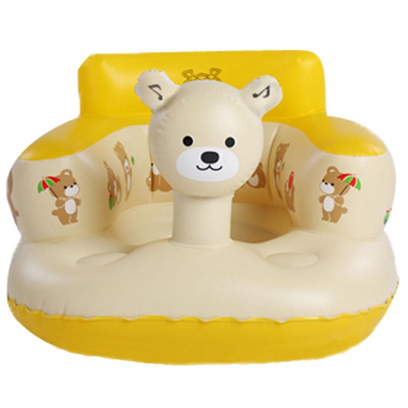 儿童宝宝餐椅 婴儿充气小沙发 学坐椅加宽加厚便携安全浴凳学座椅